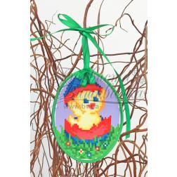 Схема для вишивки бісером і нитками Барвиста Вишиванка Пошита Великодня іграшка 10х13 ТР267аБ1013
