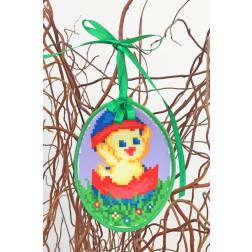 Набір для вишивки нитками Барвиста Вишиванка Пошита Великодня іграшка 10х13 ТР267аБ1013i