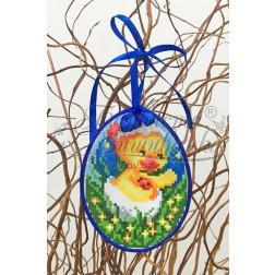 Схема для вишивки бісером і нитками Барвиста Вишиванка Пошита Великодня іграшка 10х13 ТР268аБ1013