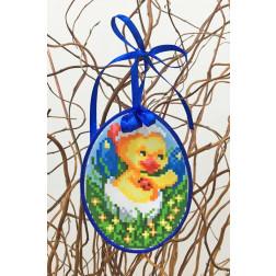 Набір для вишивки нитками Барвиста Вишиванка Пошита Великодня іграшка 10х13 ТР268аБ1013i