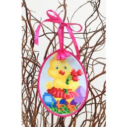 Набір для вишивки бісером Барвиста Вишиванка Пошита Великодня іграшка 10х13 ТР269аБ1013k