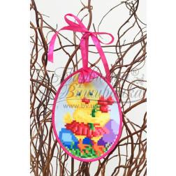 Схема для вишивки бісером і нитками Барвиста Вишиванка Пошита Великодня іграшка 10х13 ТР269аБ1013