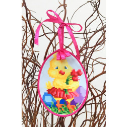 Набір для вишивки нитками Барвиста Вишиванка Пошита Великодня іграшка 10х13 ТР269аБ1013i