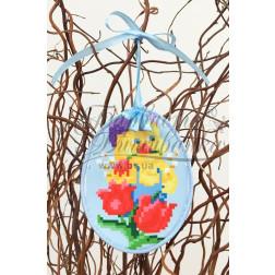 Схема для вишивки бісером і нитками Барвиста Вишиванка Пошита Великодня іграшка 10х13 ТР270аБ1013