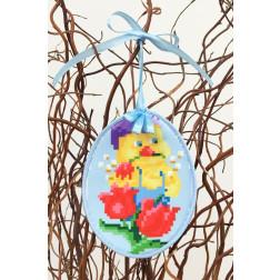 Набір для вишивки нитками Барвиста Вишиванка Пошита Великодня іграшка 10х13 ТР270аБ1013i