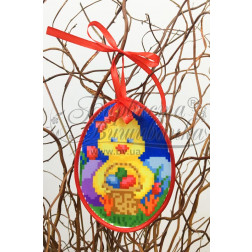 Схема для вишивки бісером і нитками Барвиста Вишиванка Пошита Великодня іграшка 10х13 ТР271аБ1013