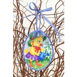 Схема для вишивки бісером і нитками Барвиста Вишиванка Пошита Великодня іграшка 10х13 ТР272аБ1013