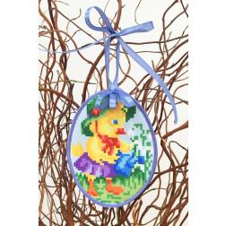 Набір для вишивки нитками Барвиста Вишиванка Пошита Великодня іграшка 10х13 ТР272аБ1013i