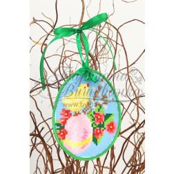 Схема для вишивки бісером і нитками Барвиста Вишиванка Пошита Великодня іграшка 10х13 ТР273аБ1013