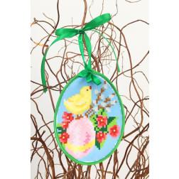 Набір для вишивки нитками Барвиста Вишиванка Пошита Великодня іграшка 10х13 ТР273аБ1013i