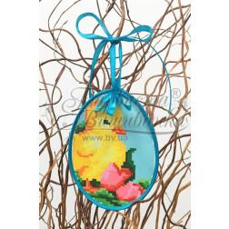 Схема для вишивки бісером і нитками Барвиста Вишиванка Пошита Великодня іграшка 10х13 ТР274аБ1013