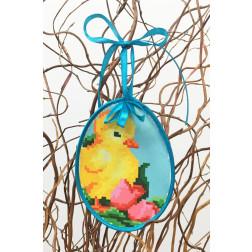 Набір для вишивки нитками Барвиста Вишиванка Пошита Великодня іграшка 10х13 ТР274аБ1013i