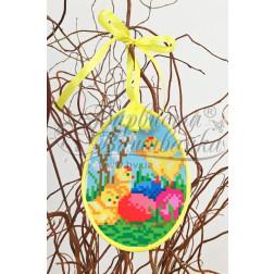 Схема для вишивки бісером і нитками Барвиста Вишиванка Пошита Великодня іграшка 10х13 ТР275аБ1013