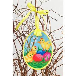 Набір для вишивки нитками Барвиста Вишиванка Пошита Великодня іграшка 10х13 ТР275аБ1013i