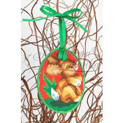 Схема для вишивки бісером і нитками Барвиста Вишиванка Пошита Великодня іграшка 10х13 ТР276аБ1013