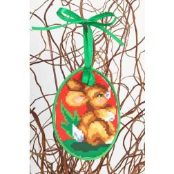 Набір для вишивки нитками Барвиста Вишиванка Пошита Великодня іграшка 10х13 ТР276аБ1013i