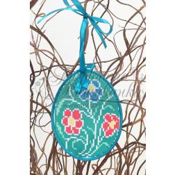 Схема для вишивки бісером і нитками Барвиста Вишиванка Пошита Великодня іграшка 10х13 ТР277аБ1013