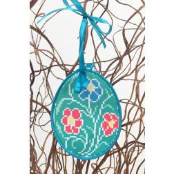 Набір для вишивки нитками Барвиста Вишиванка Пошита Великодня іграшка 10х13 ТР277аБ1013i