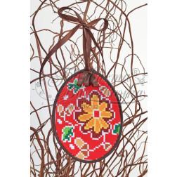 Схема для вишивки бісером і нитками Барвиста Вишиванка Пошита Великодня іграшка 10х13 ТР279аБ1013