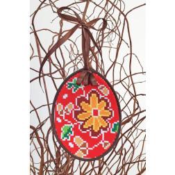 Набір для вишивки нитками Барвиста Вишиванка Пошита Великодня іграшка 10х13 ТР279аБ1013i