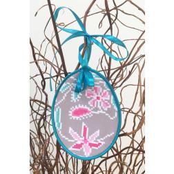 Набір для вишивки нитками Барвиста Вишиванка Пошита Великодня іграшка 10х13 ТР280аБ1013i
