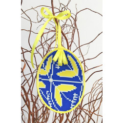 Набір для вишивки нитками Барвиста Вишиванка Пошита Великодня іграшка 10х13 ТР283аБ1013i