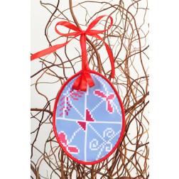 Набір для вишивки нитками Барвиста Вишиванка Пошита Великодня іграшка 10х13 ТР284аБ1013i