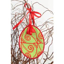 Набір для вишивки нитками Барвиста Вишиванка Пошита Великодня іграшка 10х13 ТР286аБ1013i
