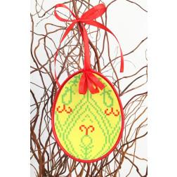 Набір для вишивки нитками Барвиста Вишиванка Пошита Великодня іграшка 10х13 ТР288аБ1013i