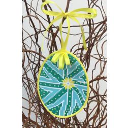 Набір для вишивки нитками Барвиста Вишиванка Пошита Великодня іграшка 10х13 ТР289аБ1013i