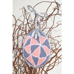 Набір для вишивки нитками Барвиста Вишиванка Пошита Великодня іграшка 10х13 ТР294аБ1013i
