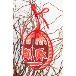 Набір для вишивки нитками Барвиста Вишиванка Пошита Великодня іграшка 10х13 ТР295аБ1013i