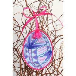 Набір для вишивки нитками Барвиста Вишиванка Пошита Великодня іграшка 10х13 ТР296аБ1013i