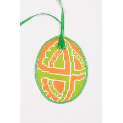 Схема для вишивки бісером і нитками Барвиста Вишиванка Пошита Великодня іграшка 10х13 ТР356аБ1013