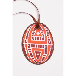 Схема для вишивки бісером і нитками Барвиста Вишиванка Пошита Великодня іграшка 10х13 ТР357аБ1013