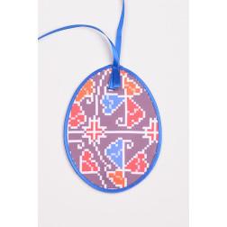 Схема для вишивки бісером і нитками Барвиста Вишиванка Пошита Великодня іграшка 10х13 ТР358аБ1013