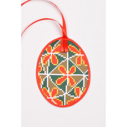 Схема для вишивки бісером і нитками Барвиста Вишиванка Пошита Великодня іграшка 10х13 ТР361аБ1013