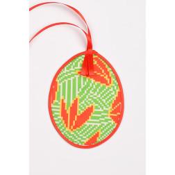 Схема для вишивки бісером і нитками Барвиста Вишиванка Пошита Великодня іграшка 10х13 ТР365аБ1013