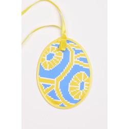 Схема для вишивки бісером і нитками Барвиста Вишиванка Пошита Великодня іграшка 10х13 ТР366аБ1013