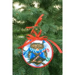 Пошита новорічна іграшка для вишивання Сонька (серія: Новорічні Сови) 10 см Х 10 см ТР367аБ1010