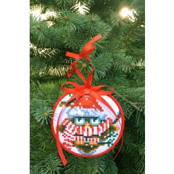 Пошита новорічна іграшка для вишивання Розумник (серія: Новорічні Сови) 10 см Х 10 см ТР370аБ1010