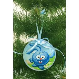 Пошита новорічна іграшка для вишивання Крош (серія: Смішарики) 10 см Х 10 см ТР374аБ1010