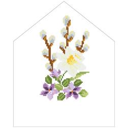 Набір для вишивки нитками Барвиста Вишиванка Пасхальна хустинка на лозу 20х25 ТР549пн2025i