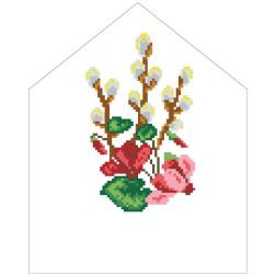 Набір для вишивки нитками Барвиста Вишиванка Пасхальна хустинка на лозу 20х25 ТР551пн2025i