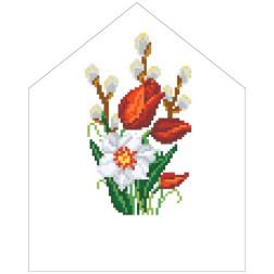 Набір для вишивки нитками Барвиста Вишиванка Пасхальна хустинка на лозу 20х25 ТР554пн2025i