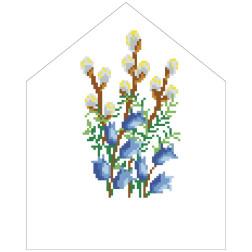 Набір для вишивки нитками Барвиста Вишиванка Пасхальна хустинка на лозу 20х25 ТР555пн2025i