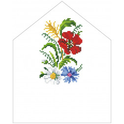 Набір для вишивки бісером Барвиста Вишиванка Спасівська хустинка на букет 20х25 ТР572пн2025k