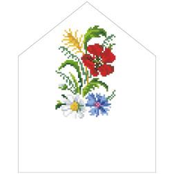Схема Спасівська хустинка на букет для вишивки бісером і нитками на тканині ТР572пн2025