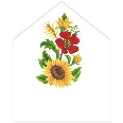 Набір для вишивки бісером Барвиста Вишиванка Спасівська хустинка на букет 20х25 ТР573пн2025k