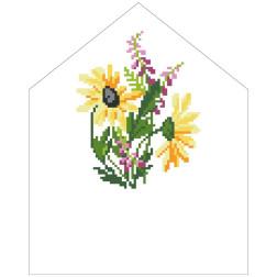 Набір для вишивки бісером Барвиста Вишиванка Спасівська хустинка на букет 20х25 ТР576пн2025k
